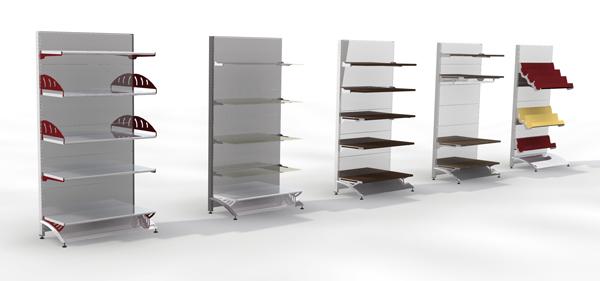 Estanter as a medida para tiendas salamanca anfra - Estanterias modulares metalicas ...