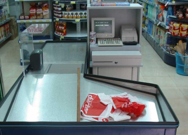 Caja registradora para supermercados