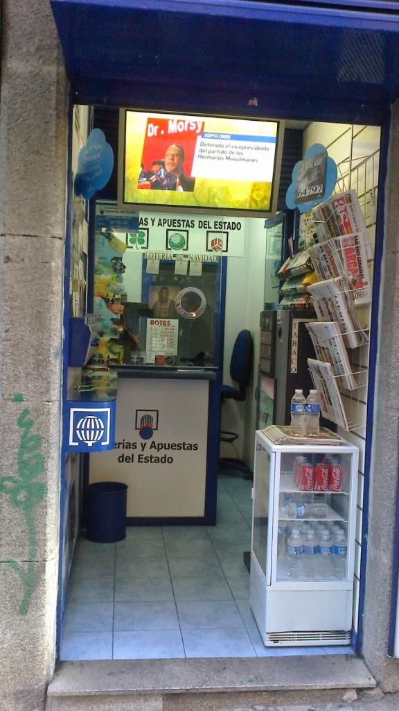 Estanco pequeño con administración de loterías